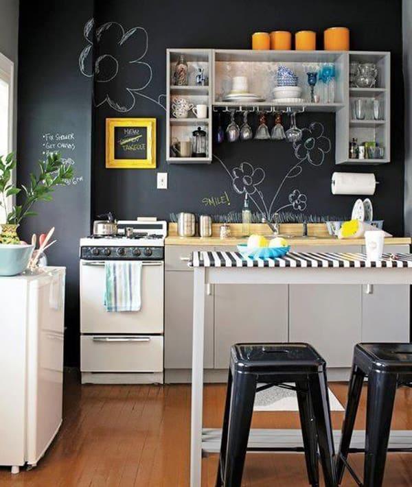 cozinha com parede lousa 10