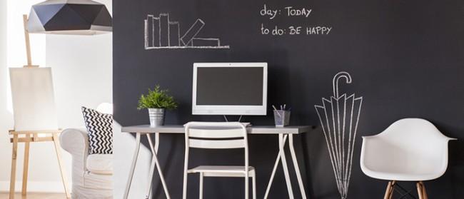decoracao de ambientes com parede lousa 01
