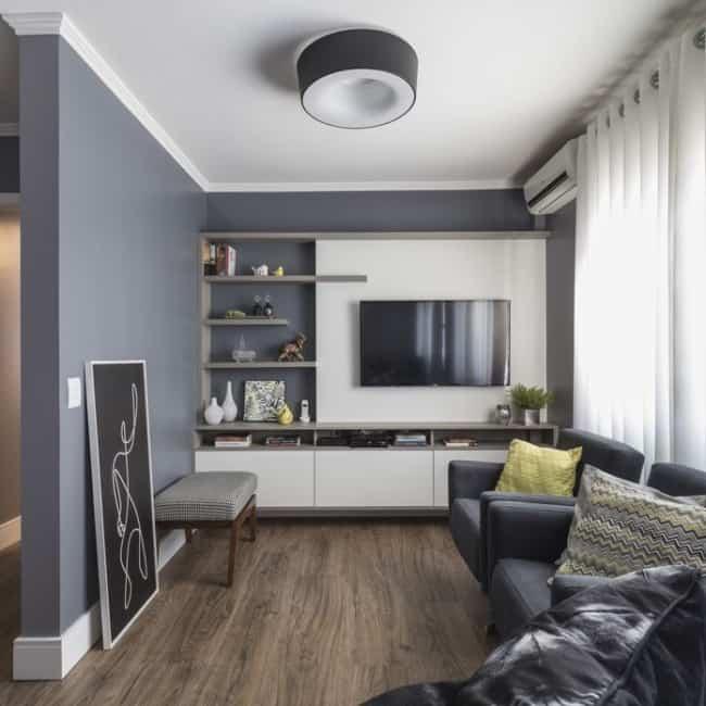 decoracao de sala de estar e tv 13