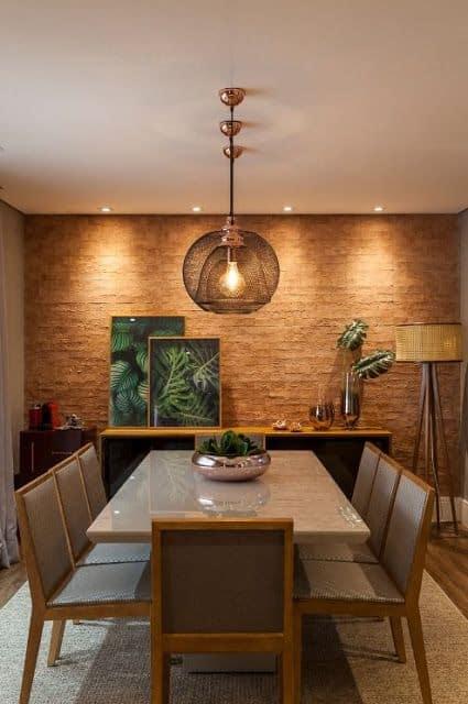 decoracao de sala de jantar marrom 24