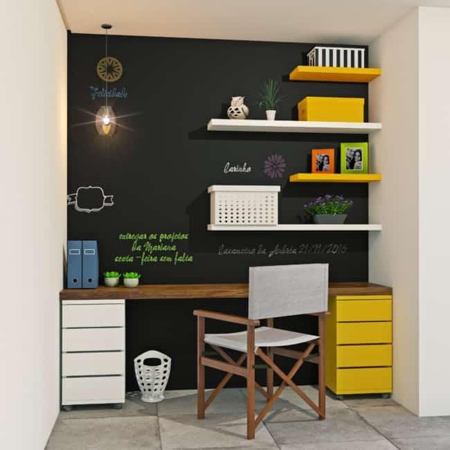escritorio com parede lousa 21