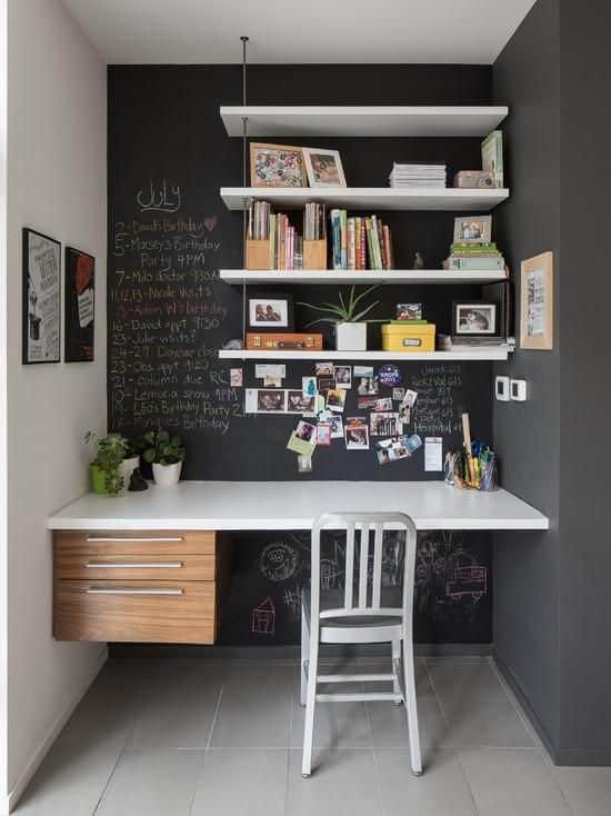 escritorio com parede lousa 22