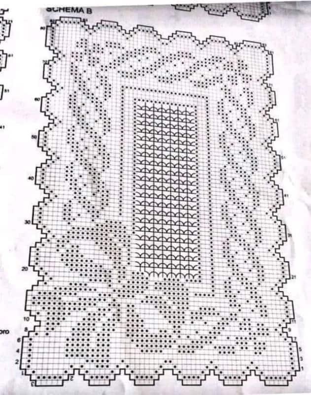 grafico de tapete de croche 27