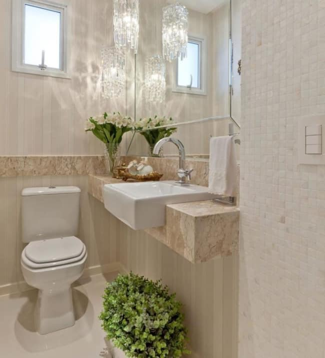 ivory color bathroom 35