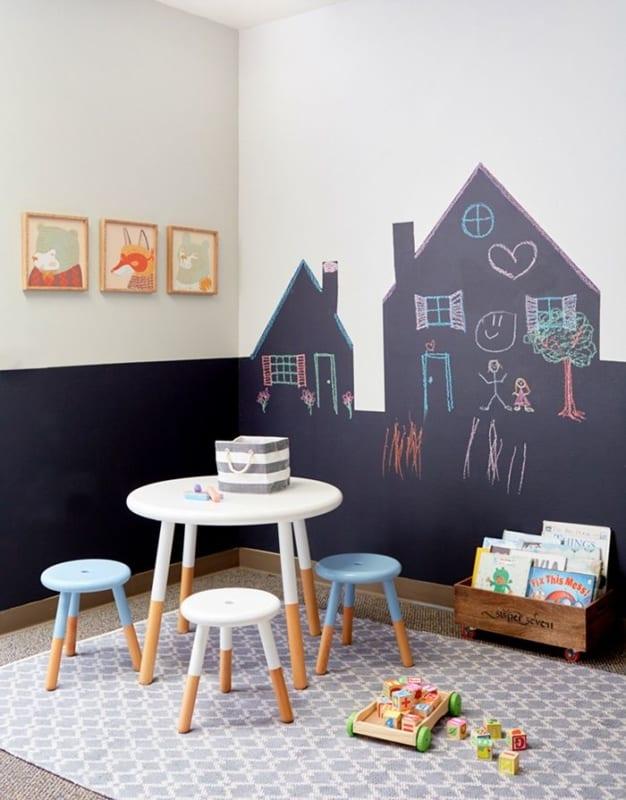 quarto infantil parede tinta lousa 15