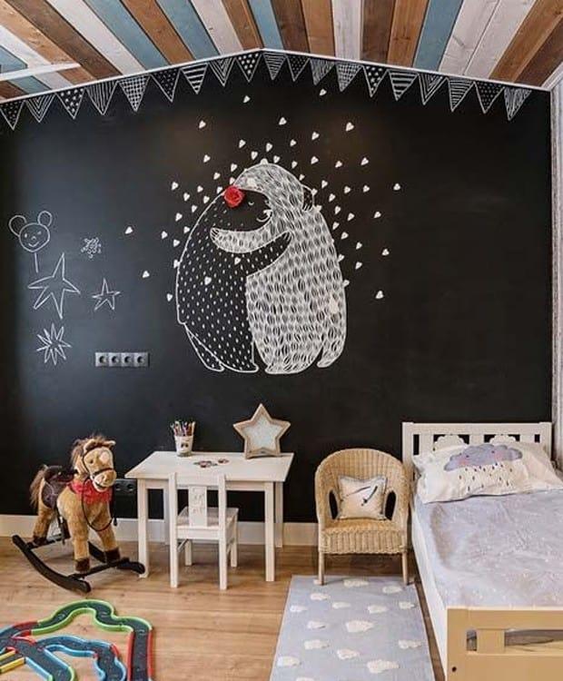 quarto infantil parede tinta lousa 17