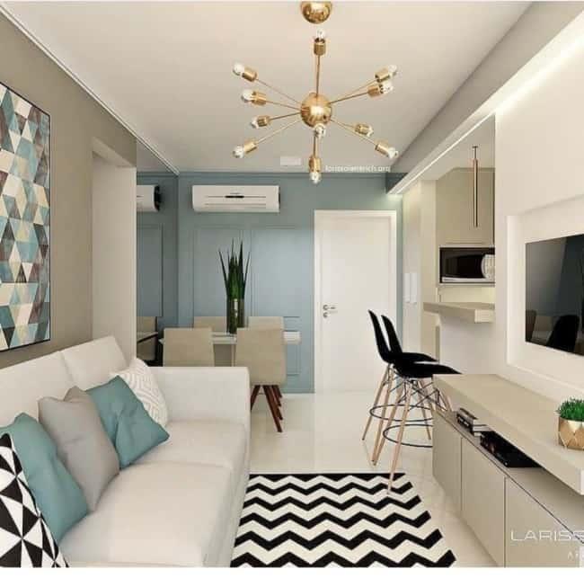 sala de apartamento pequeno 31