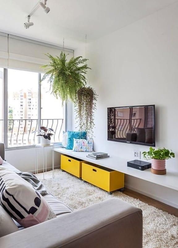 sala de apartamento pequeno 32