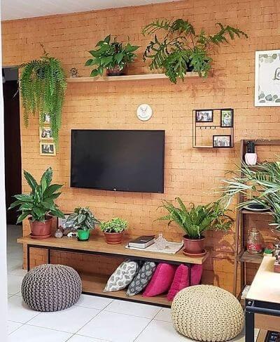 sala de apartamento pequeno 40