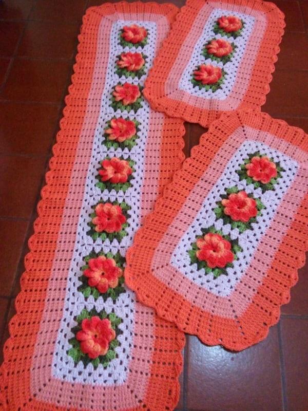 tapete de flores feito de croche 07