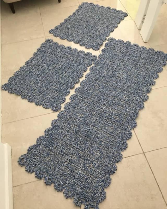 tapete simples feito de croche 04