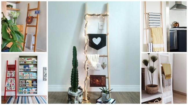 decoracao com escada decorativa
