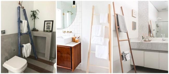 decoracao de banheiro com escada decorativa