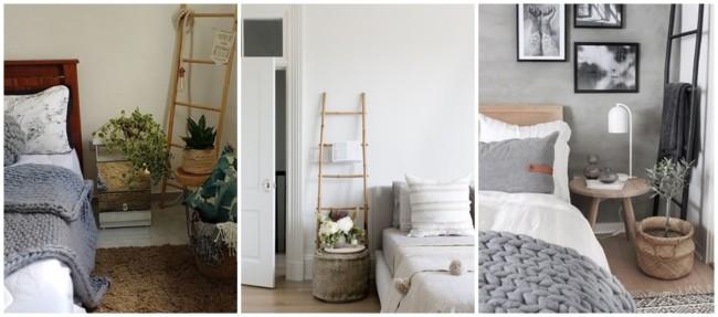 decoracao com escada decorativa no quarto