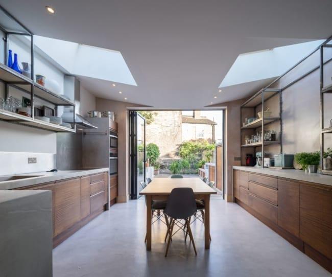 piso de concreto polido na cozinha