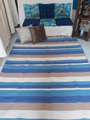 lindo tapete grande listrado