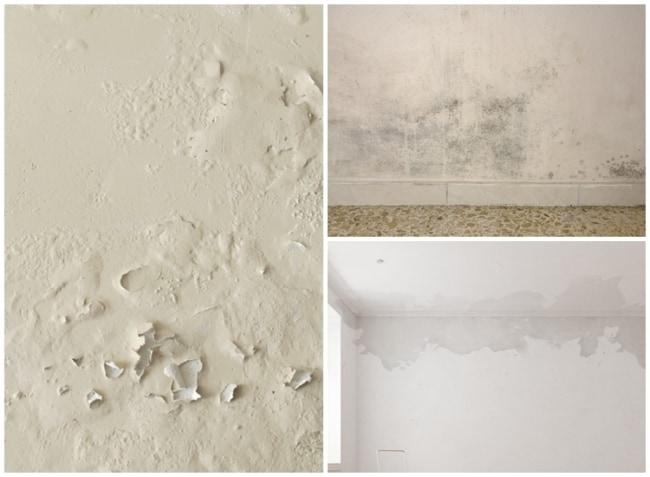 parede com umidade