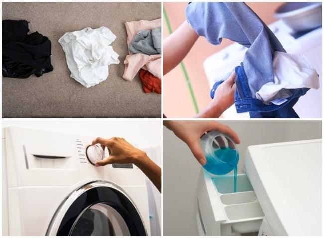 passo a passo para lavar roupa na maquina