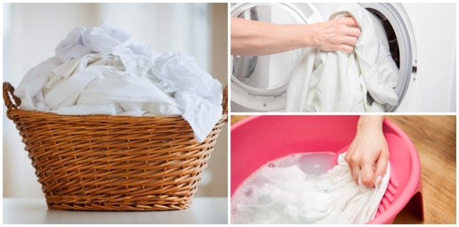passo a passo para lavar roupa branca