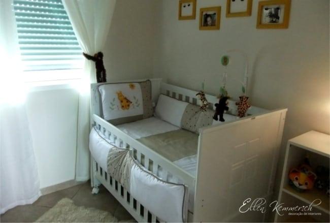 quarto de bebe com paredes na cor algodao egipcio