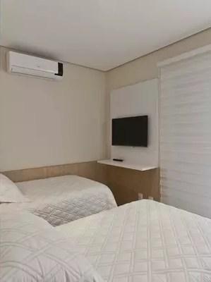 quarto decorado com parede algodao egipcio