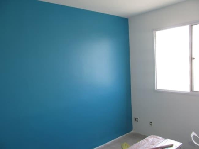 parede pintada com tinta a oleo