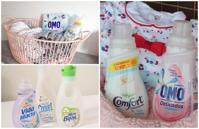 dicas de produtos para lavar roupa de bebe