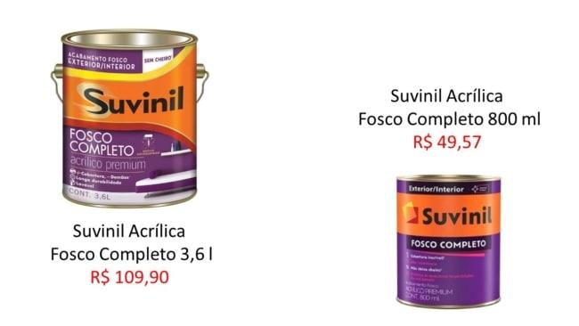 quanto custa tinta acrilica suvinil
