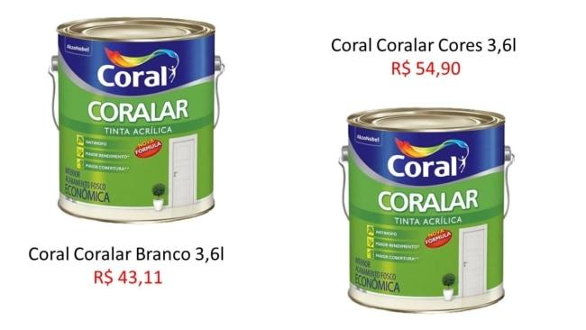 onde comprar tinta acrilica coral