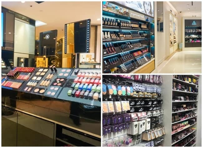 modelos de expositores para lojas de maquiagem