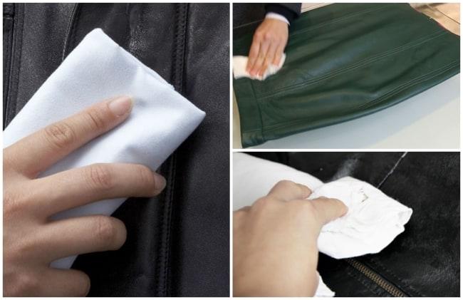 como limpar roupa de couro