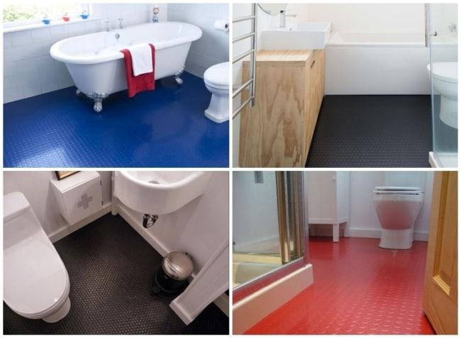 banheiro com piso emborrachado
