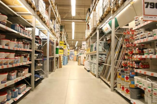 como organizar loja de materiais de construcao