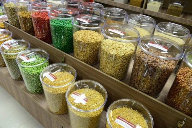 organizacao de loja de produtos naturais