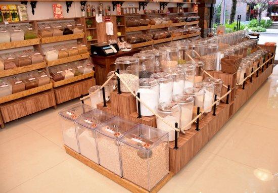 modelos de expositores para lojas de produtos naturais