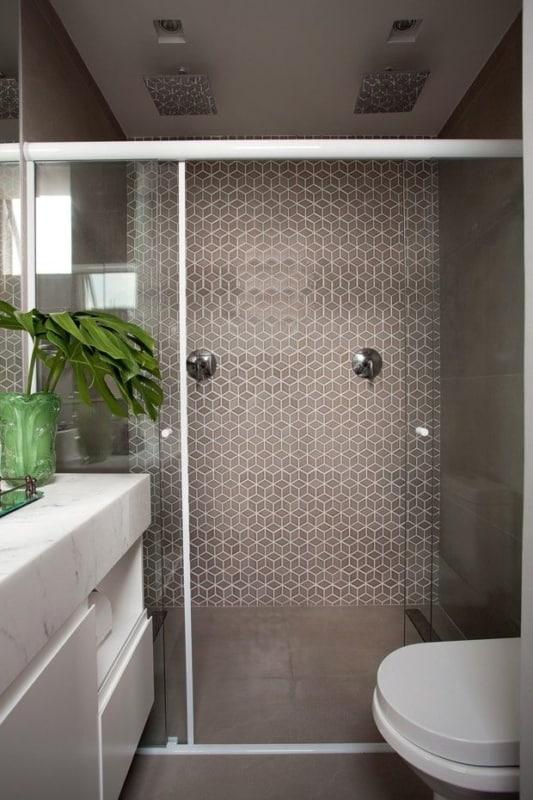 banheiro moderno em cinza e branco