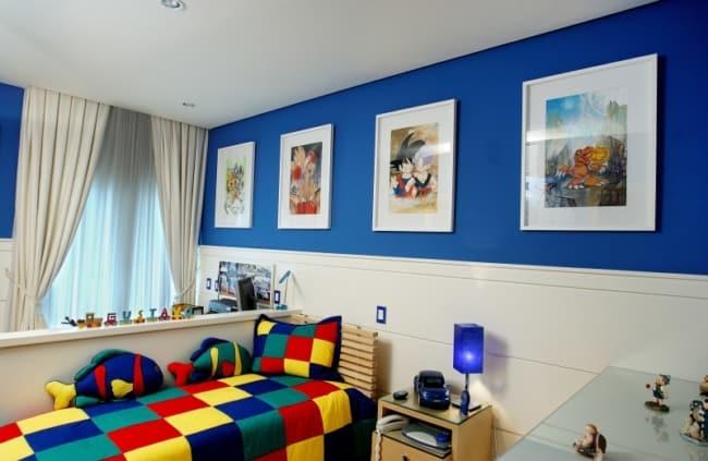 quarto infantil com pintura acrilica na parede