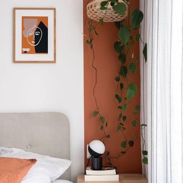 pintura moderna no quarto com tinta acrilica