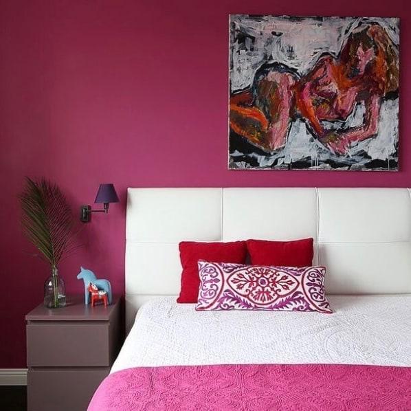 quarto pink com tinta acrilica