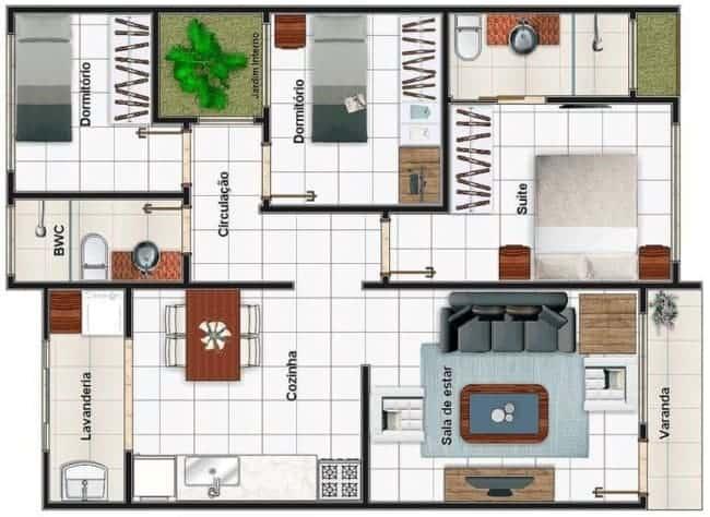 Casas pequenas tambem podem ser contempladas com varanda