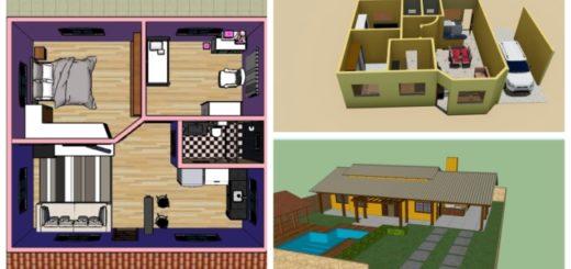Plantas de casa com dois quartos 1