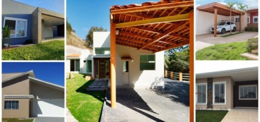 fachadas de casas pequenas com garagem