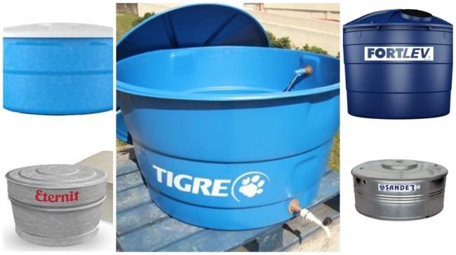 modelos e tipos de caixa d'água