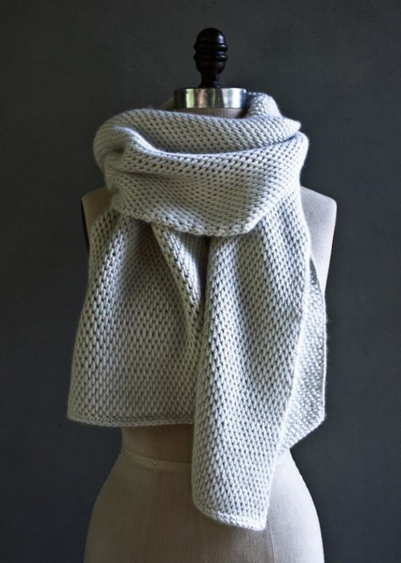 modelo de cachecol em croche tunisiano