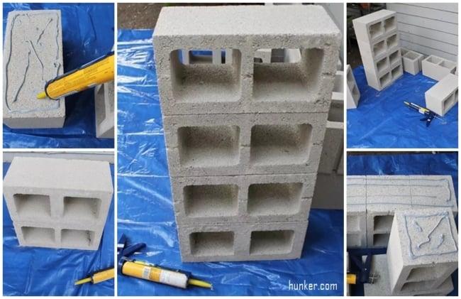 DIY para fazer banco de madeira com blocos