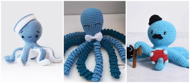 modelos de polvo de croche azul