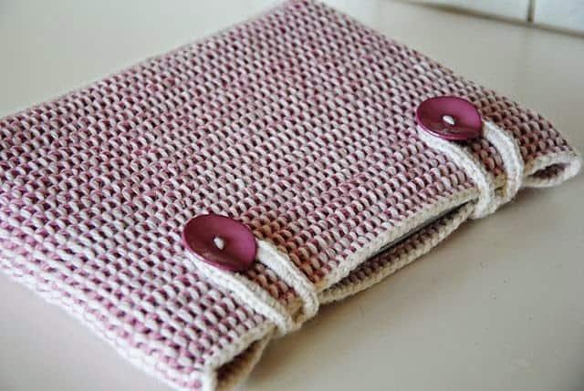 bolsa feminina de croche tunisiano