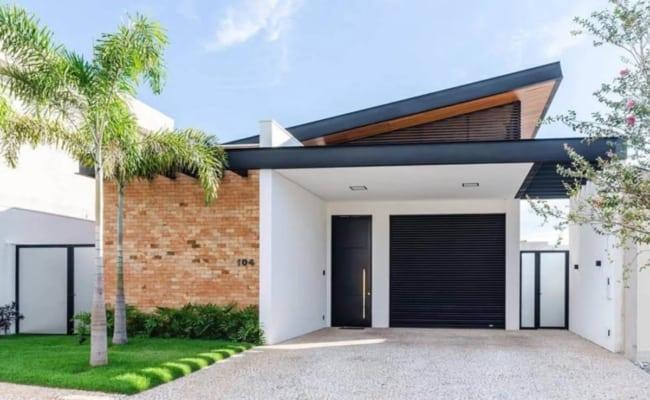 projeto de casa moderna com garagem na frente