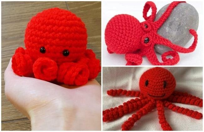modelos de polvo de croche vermelho