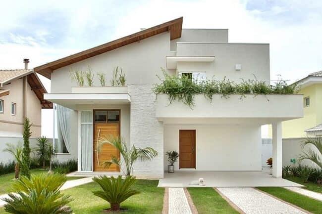 casa moderna com garagem e 2 pavimentos